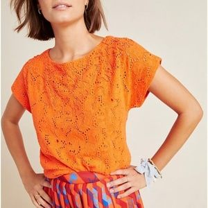 Maeve by Anthropologie Karine Beaded Lace Top